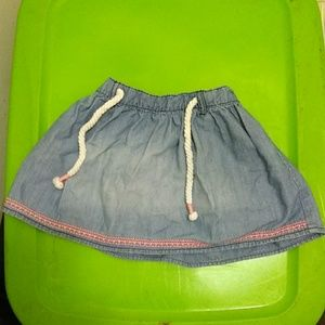 Toddler drawstring skirt